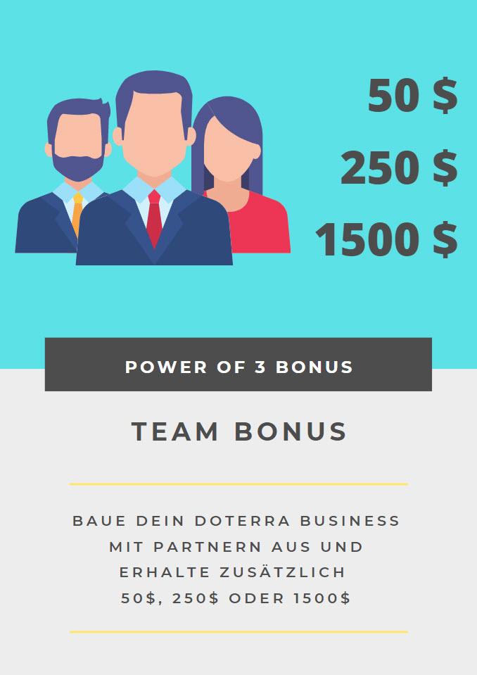 doTERRA Business Power of 3 Bonus